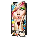 dP deinPhone iPhone 6 6s - Handyhülle - Selbst Gestalten/Individuell bedruckbar/eigenes Foto oder Text/Silikonhülle Schwarz