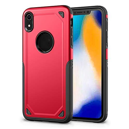 SHRG Adatto per iPhone X/iPhone XS/iPhone XS Max Conchiglia,TPU Silicone Caso, Anti Scivolo E Antiurto,Rosso,iphonexsmax
