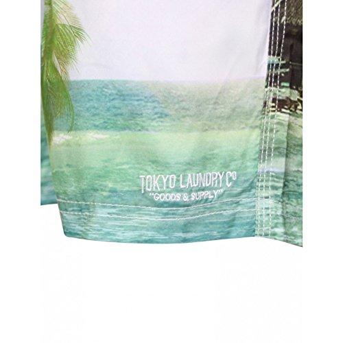 Herren Hawaii Surf Brett Badehose By Tokyo Laundry Gratis Zehentrenner Neu Himmelblau - 1S7512