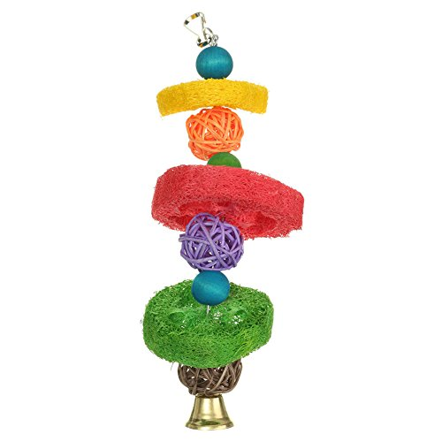 Little Finger Multicolor Papagei Vögel Kauen Spielzeug Käfig Aufhängen Decor Hohl Luffa Vine ()