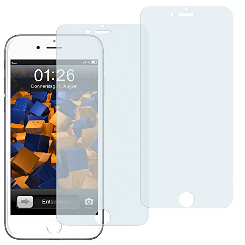 mumbi 3D Touch Schutzfolie für iPhone 6 Plus 6s Plus Folie Displayschutzfolie (2er Set) (Iphone 6 Plus Stift)