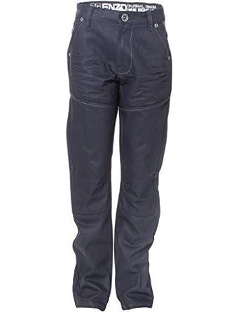 ENZO Jungen Beschichtet Mode Markiert Gerades Bein Jeans Denim-hose Größe  24 -29 -