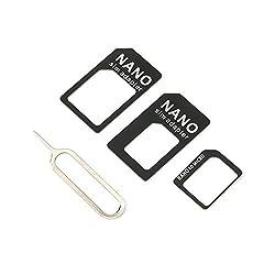 RoxTop 3 in 1 SIM Adapter und für Micro SIM Adapter und für Nano für Micro-Adapter mit Einer Nadel für Mobile Geräte