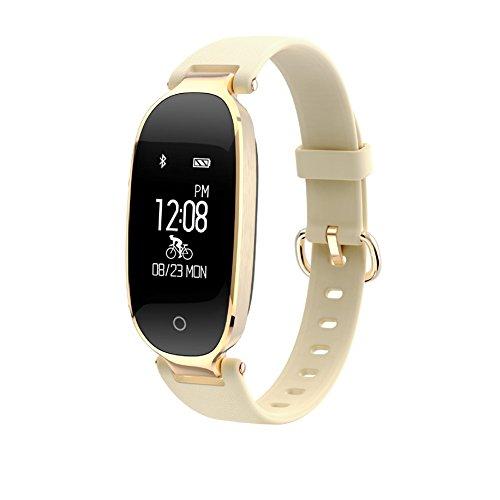 QIND SmartWatches Sport Pedometers, Fitness Tracker S3Neu Wasserdicht Bluetooth Smart Armbandes, Herzfrequenz Blutdruckmessgerät, Sport Step-Counting für Android iOS