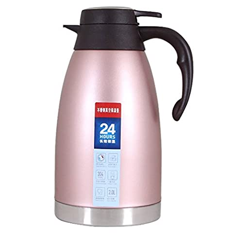 Thermal Carafe Stainless Steel Coffee Jug Double Walled Vacuum Insulated Thermos-2Litre