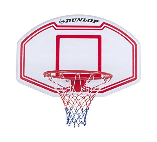 Dunlop Set Pallacanestro Con Anello Regolamentare Tabellone Dunlop 90x60 cm Basket