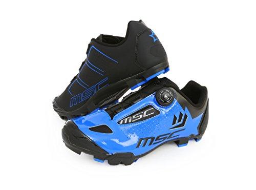 MSC Bikes Aero XC Zapatillas, Unisex Adulto, Azul/Blue, 40