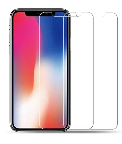 [2 Pièces] Verre Trempé iPhone XS Max, Vicstar Film Protection en Verre trempé écran Protecteur Vitre [Dureté 9H] [Sans Bulles...