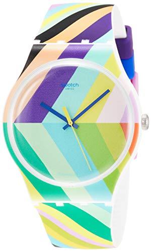 Swatch Reloj Analógico para Hombre de Cuarzo con Correa en Silicona SUOW155