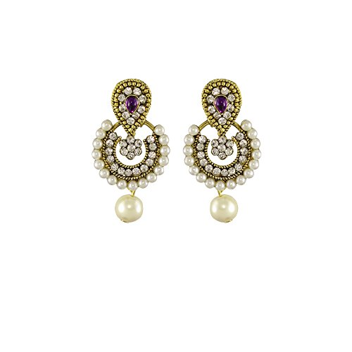 Unicorn Ramleela Small Dangle Earring in Faux Pearls for Girls and Women - UENWER50130PU  available at amazon for Rs.179