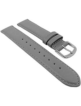 Herzog Ersatzband Uhrenarmband Kalbsleder Band Grau 26697S, Stegbreite:14mm