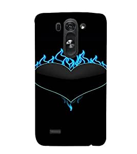 PrintVisa Cute Heart Flames Design 3D Hard Polycarbonate Designer Back Case Cover for LG G3 BEAT