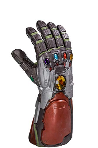 Iron Man Gauntlet Endgame Tony Stark Thanos Infinity Edelsteine Latex Handschuh mit Energy Stones Cosplay Kostüm Replica Erwachsene Herren Movie Verkleiden Merchandise Zubehör (Iron Erwachsenen Kostüm Man)