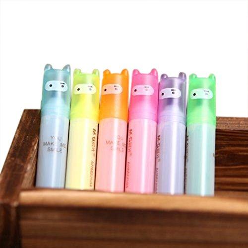 Cosanter 6 Stk mini Textmarker set Marker Stifte Set Filzstifte 6 Farbige