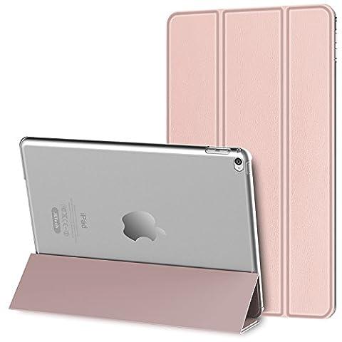 JETech iPad Mini 4 Hülle Schutzhülle Etui Tasche Abdeckung Ledertasche mit Durchschaubar Rückseite für Apple Neu iPad Mini 4 mit Automatischen Schlaf / Wake (Apple Tablet Ipad Mini)