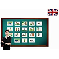 Carte illlustrate educativi - Flashcard lingua inglese - Phrasal Verbs Flashcards - Set 2