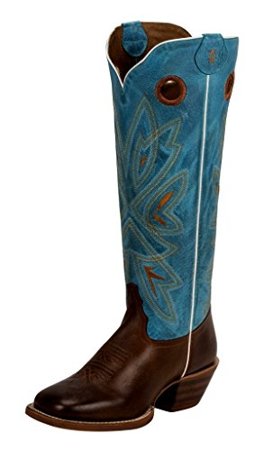 Tony Lama Fashion Stiefel (Tony Lama Buckarro Stiefel 3R2400L Braun Türkis Westernreitstiefel, Groesse:39 (9 US))