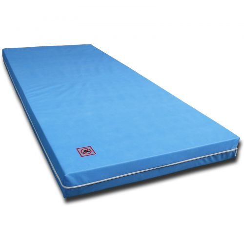 Matratze Rollmatratze RG30 7 ZONEN MATRATZE mit Vlies Bezug Blau Größe 90 x 200 cm