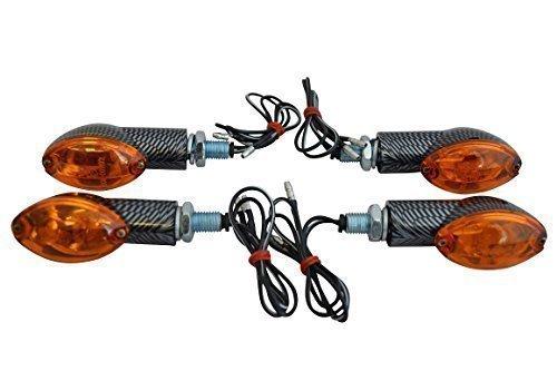 2 x Paare von 21W Universal Kohlefaser Glühbirne Motorrad Blinker glühlampe Stil (LED Nicht)