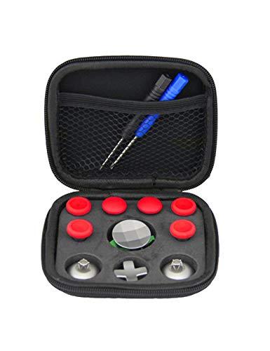 Descripción:  ● Metal de acero inoxidable de alta calidad, palanca de mando botón analog sticks thumbstick kits de reemplazo con destornillador para Xbox One Elite. ● El conjunto de reemplazo de la palanca de control es perfecto para los controladore...