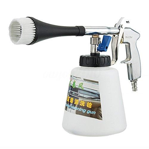 Alta pressione auto pulizia pistola aria Pulse apparecchiature ad alta pressione con bottiglia di schiuma pulizia ugello spruzzatore per auto pavimento Deck Windows, bianco