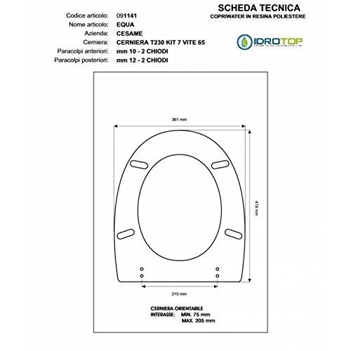 60 Cm con Dischi Tondi Fermapanno senza Manico TTS Cleaning 00000888C Telaio Attrezzo Velcro