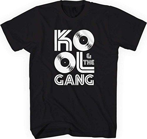 Preisvergleich Produktbild Kool & the Gang - Herren Aufzeichnungen T T-Shirt, Black, XL
