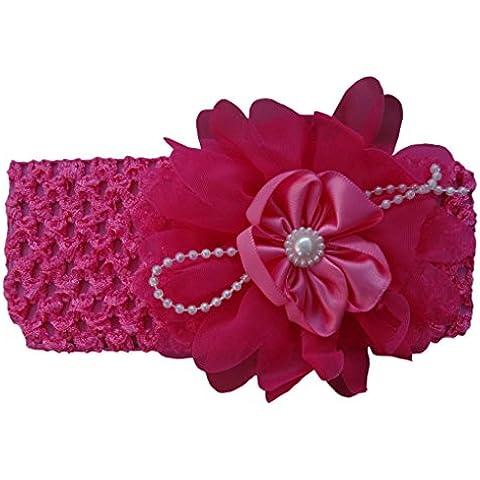 Jessidress Lusso Neonata Fasce Fascia Bandeau Hairband Diadema Clip Clips Fiore Capelli Fiori