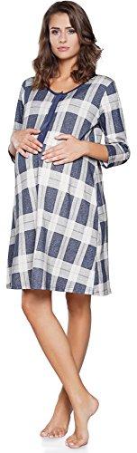 Italian fashion if allattamento camicia da notte per donna if180005 (navy, xxl)