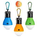 Winzwon Lampada LED da campeggio,Tenda LED Light lanterna lampada portatile Resistente esterno Tenda Lampada per il campeggio, l'escursionismo, la pesca, la caccia, il backpacking (Confezione di 3)