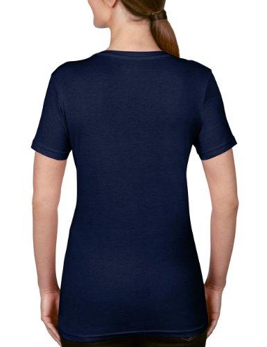 anvil Damen Lightweight V- Neck T-Shirt tailliert / 392 Blau (NAV-Navy 032)