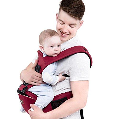 Babytrage Babybauchtragen Baby Carrier Breathable Cotton Hip Sitzträger Ergonomische Design Variety Tragen Wege mit abnehmbare Sitz Verstellbare Neugeborenen Portable Multifunktions-Rucksack Carrier (Carrier Baby Wrap Ergobaby)