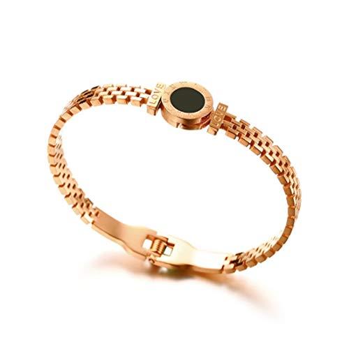 Asmei Epoxy Roman Numeral Bracelet 2 Farben optional Geburtstagsgeschenke senden Liebhaber (Color : Orange)