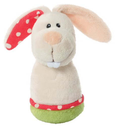 Nici - my first nici 34789 Mini Greiffigur Hase Plüsch 10 cm mit Rassel (Safety First Neugeborenen)