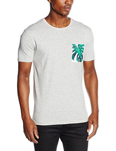 Only & Sons onsMICKS POCKET O-NECK EXP, T-Shirt A Maniche Corte Uomo, Grigio (Light Grey Melange), Large (Taglia Produttore: Large)
