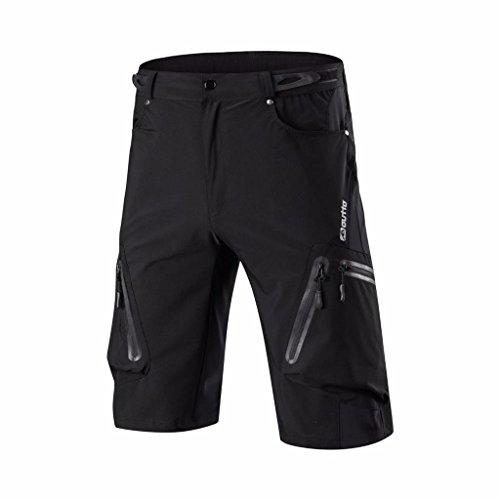 VERTAST MTB Hose Herren Radshorts/Radhose, Outdoor Sport Shorts Freizeit Atmungsaktive mit Reißverschluss, schwarz, L -