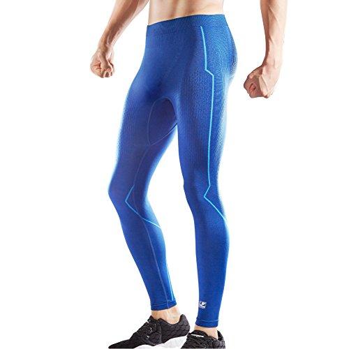 Medium Support-strumpfhosen (LP Support ARM2901Z Herren Kompressions-Langhose für Workout Fitness Laufen Radfahren Kompressions-Baselayer Shapewear Strumpfhose Cool Dry, blau, Medium)