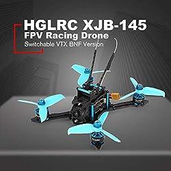 Fghdf Ajuste el HGLRC XJB-145MM FPV Racing Drone con OSD Omnibus F4 28A 2-4S Blheli_S ESC 25/100/200 / 350mW Versión VTX BNF conmutable