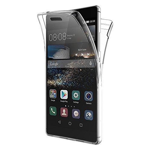 AICEK Funda Huawei P8, Transparente Silicona 360°Full Body Fundas para Huawei...