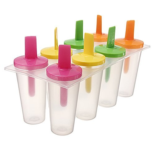 SODIAL (R) Ice Lolly Cream Maker Pop Pops Kuchen Form Backform Popsicle Joghurt IceBox Kühlschrank Frozen behandelt