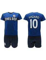 6d97f04192b69 Conjunto Fútbol Eden Hazard 10 Chelsea Blues Azul Temporada 2018-2019  Replica Oficial con Licencia