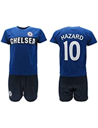 Conjunto Fútbol Eden Hazard 10 Chelsea Blues Azul Temporada 2018-2019 Replica Oficial con Licencia - Caja de Regalo Camisa + Pantalón…