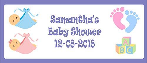 Cards Galore Online Baby Dusche Landschaft Party-Banner, Personalisiert mit Eigenen Nachricht–Unisex