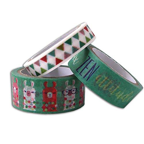 Unbekannt Toga MT145Lama 3Stück Masking/Washi Tape Mehrfarbig 1,5x 500x 0,2cm