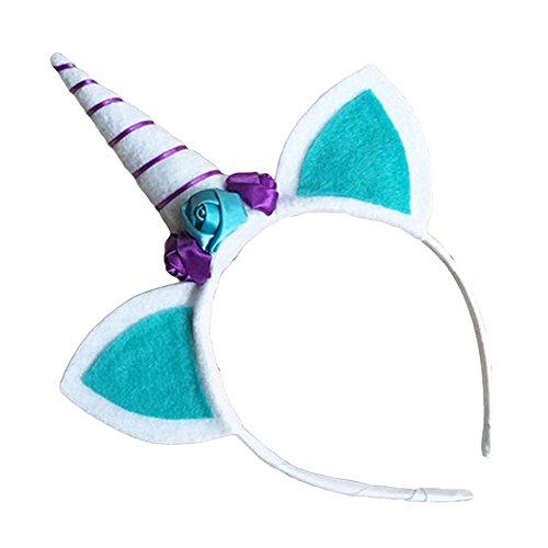 en Einhorn Horn Head Party Kids Haarband Stirnband Fancy Kleid Party Deko Blume mit Kopfbedeckungen (Niedlichen Kinder Halloween Bilder)