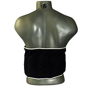 Bio-Dinkelkissen Wärmekissen Gürtel mit Klettverschluss, ca. 135cm, 7-Kammer | Rückenkissen Körnerkissen, dunkelblau