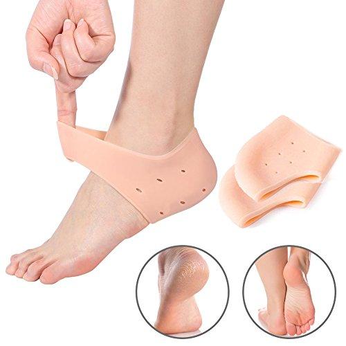 yotown Silikon Gel Ferse Ärmel, 1Paar Feuchtigkeitsspendende Socken Ferse Schützen Dry gebrochenen Fuß Ärmel Schmerzlinderung -