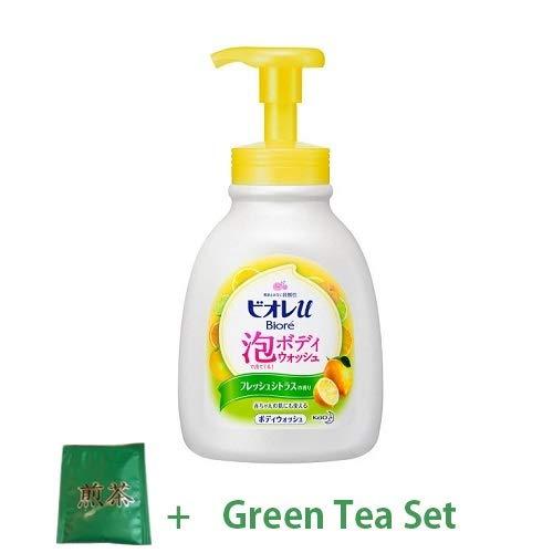 Kao Biore U New 2018 Bubble Body Wash 600ml - Fresh Citrus Scent (Green Tea Set)