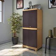 Nilkamal Freedom Big 1 (FB 1) Plastic Storage Cabinet (Weathered Brown & Bisc