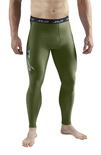 Cold Base Layer Legging (Sub Sports Herren Cold Kompressionshose Thermisch Funktionswäsche Base Layer  lang, Grün, L)